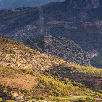 Vista d'Erinyà i Parc Nacional d'Aigúestortes i Sant Maurici de fons